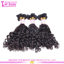 Wholesale 100 percent russian aunty funmi hair bouncy curls top grade 7a funmi human hair
