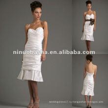 Милая декольте ruched русалка тафта свадебное платье