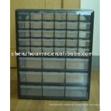 plastic box for tools with 39 drawers