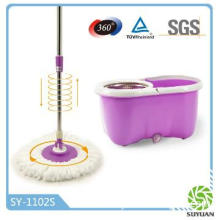 360 spin Magic mop/hand press mop with water outlet design SY-1102