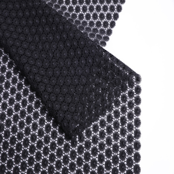 Shiny Polyester Sunflower Chemical Lace Fabric For Dress