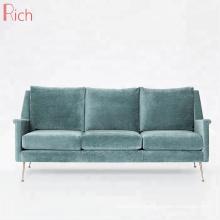 New Design Sex Fabric Cover Loveseat Mid-Century Home Furniture I Shape 3 Seater Sofa