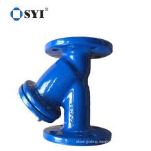 Ductile Cast Iron Dn100 Dn150 Y Type Strainer Filter Valve Flange Water Strainer