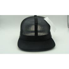 Customed Fashion Black Blank PU Metall Caps (ACEK0075)