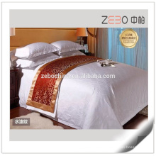 300 Thread Count Jacquard Linen for Hotel Modern Hotel Bed Sheet White