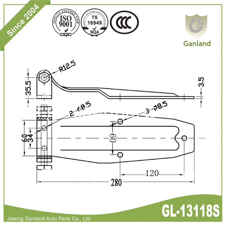 Side Panel Hinge GL-13118S