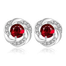 Red Zicron Popular Ear Stud Pendiente