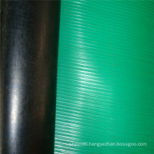 Green Surface Black Back Ribbed Anti Slip Rubber Sheet