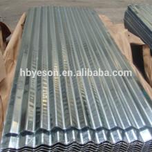 Cor alumínio ondulado telhado folha