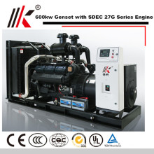 SILENT GENERATOR 6 MW WITH SHANGHAI DIESEL ENGINE CO LTD 600KW GENSET