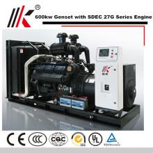GERADOR SILENCIOSO 6 MW COM MOTOR DIESEL DE SHANGHAI CO LTD 600KW GENSET