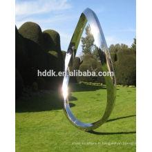 Sculpture Jardin ou cour en acier inoxydable Courbe sans fin