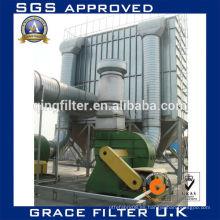 Sistema de recogida de polvo del filtro de bolsas