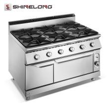 Fogão de gás comercial Furnotel com 6 queimadores com fabricantes de forno na China