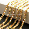Gold Plated Rhinestone Cup Chain