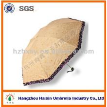 Moda regalo poliester 3 paraguas plegable en venta