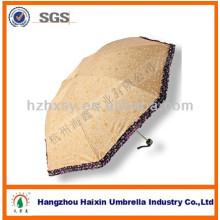 Mode Polyester cadeau 3 pliage parapluie à vendre