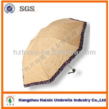 Fashion Polyester Gift 3 Folding Umbrella for Sale