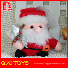 Cute design plush santa toy voice recording santa clause soft toy