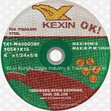 En12413 Inox disque de coupe / molette de coupe pour l'acier inoxydable