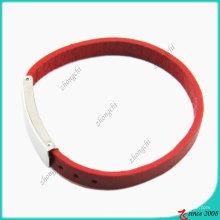 Девочек мода Красный Натуральная кожа Браслет (ЛБ)