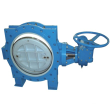Flanged Butterfly valve Flanged Sealing Double Eccentric Flanged Butterfly Valve with Gearbox
