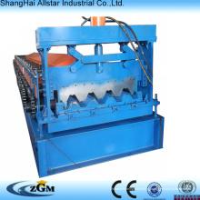 Plataforma do metal fabricante estrutura aço rolo formando aço máquinas decking do rolo frio maquinaria antiga