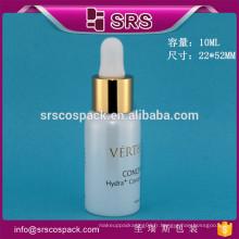 Bouteille d'huile essentielle en verre de haute qualité SRS, 10ml bouteilles à gazon cosmétique