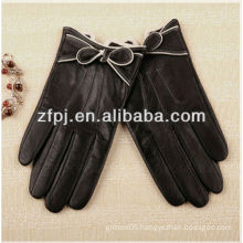 New style lady leather mittens with fingers for 2013