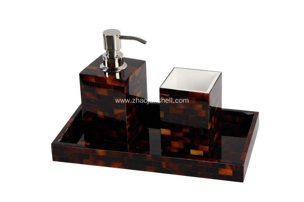 Brown Pen Shell Bathroom Amenity Sets for Wholesale