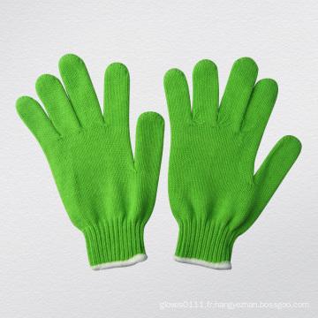 Gant de coton tricoté à tricoter en tricot de fil acrylique 7g-2483