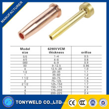 High quality 6290VVCM copper /brass gas cutting nozzle