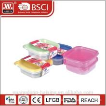 Comida de plástico cuadrado contenedor 0.9L(2pcs)