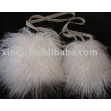 Sac de fourrure d'agneau mongol