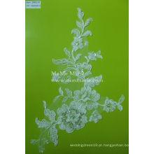 Tecido de renda com bordados em tecido Tecido de noiva de casamento nupcial CMC011B