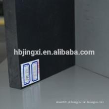 Folha rígida plástica preta do PVC, folha 3mm do PVC