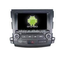 Quad core! Voiture dvd avec lien miroir / DVR / TPMS / OBD2 pour 8 pouces écran tactile quad core 4.4 système Android MITSUBISHI OUTLANDER