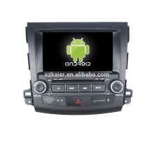 Quad core!car dvd with mirror link/DVR/TPMS/OBD2 for 8 inch touch screen quad core 4.4 Android system MITSUBISHI OUTLANDER