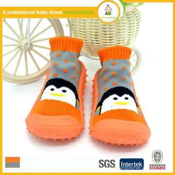 2015 hot sale lovely animal print wholesale baby kids socks shoes