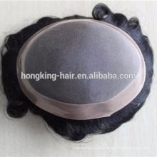cheap mono bleached hair pieces/toupee