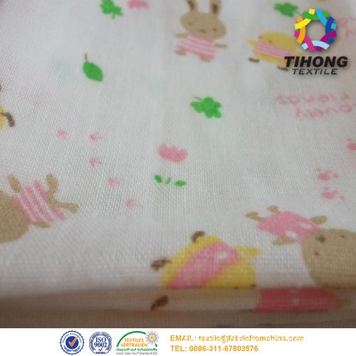 baby printed muslin fabric