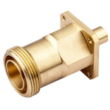 Precision Machined Brass Fiber Adapter