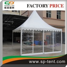 5m by 5m clear pagoda tent for outdoor party tent