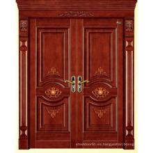 Entrada de lujo puerta garaje puerta madera puerta