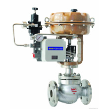 válvula de control de gas de diafragma de brida de alta calidad con neumático