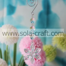 Special On 17CM Clear Transparent Grade A Acrylic Pressed Flower Vase Beaded Garland Prism