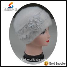 DSC9589 lingshang angora high quality Custom Crocheting Knitted Beret hat