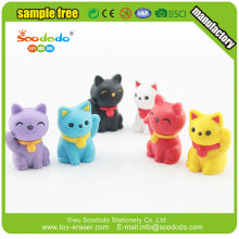 nocelty 3d tecknad katt lucky cat form eraser