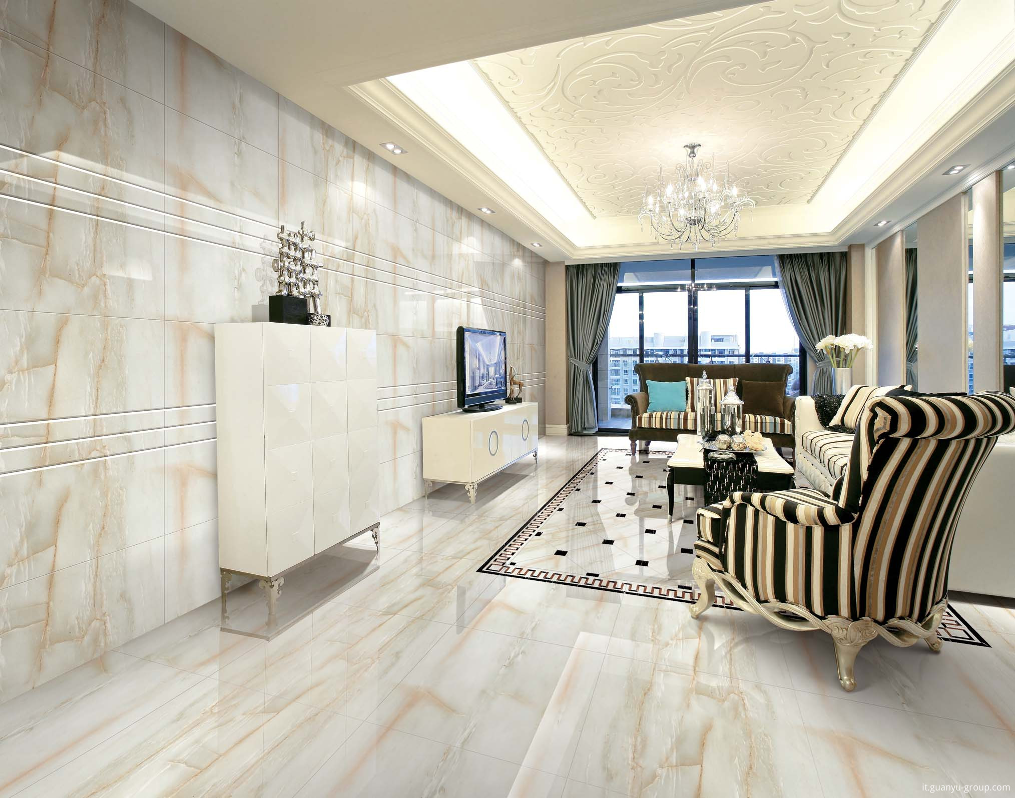 Marble Look Glazed Full Polished Porcelain Tile