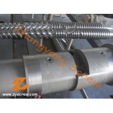 Twin conique vis Canon pour l'Extrusion de tubes (ZYT373)